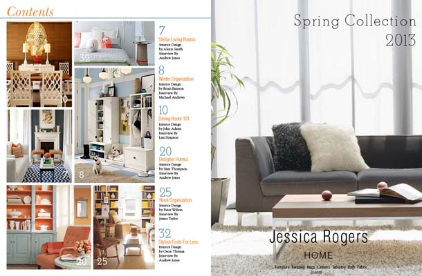inside spread of homestyle magazine an elegant and upscale interior design magazine for people interested in style travel society and creating beautiful
